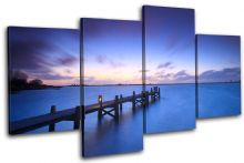 Lake Jetty Pier Sunset Seascape - 13-1051(00B)-MP04-LO